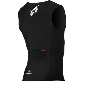 Head Swimrun Bat Top Met Zakje Heren, black/red